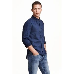 H&M DENIM BUTTON DOWN SHIRT